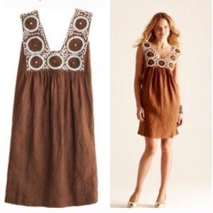 Sz S brown linen CALYPSO St. Barth dress