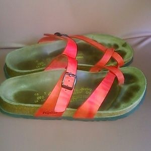 Birkenstock Shoes - Birkenstock 40 Papillio thong sandals coral red