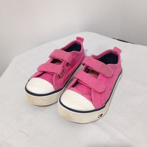 Tommy Hilfiger pink Velcro sneakers toddler 7