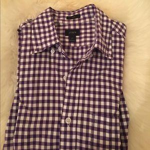 J.Crew  Other - J.Crew Slim Gingham purple white dress shirt