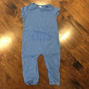 Stem Baby Other - Stem Baby Blue Short-Sleeve One-piece with Pocket