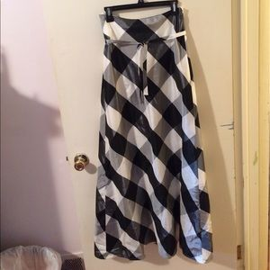 After Six Dresses & Skirts - Sale! After Six Full Length Checkered Skirt
