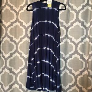 NWT Blue tie dye sleeveless dress