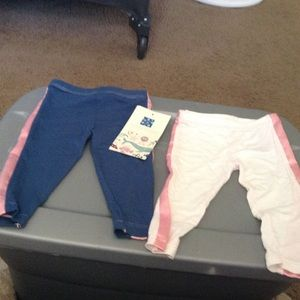Kickee Pants Other - 2 pair of Kickee pants blue/ white  sz 3/6 mon $56