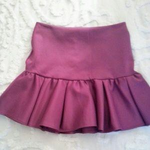 ASOS Violet Flounce Mini Skirt