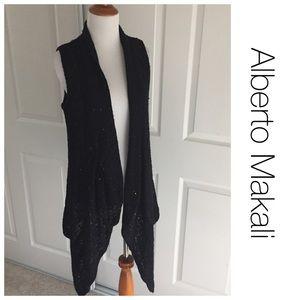 Alberto Makali Jackets & Blazers - Alberto Makali black duster vest with sparkles M