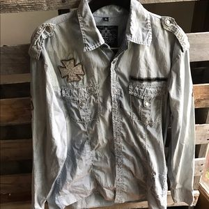 Roar Other - Last chance ROAR men's button up shirt L EUC