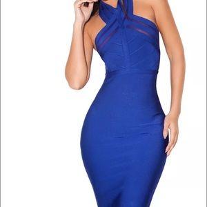 house of cb Dresses & Skirts - House of CB Royal Blue Bandage Dress (XS & Med)