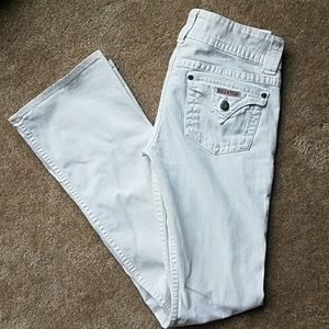 Hudson Jeans Denim - *flawed Hudson white signature bootcut jeans