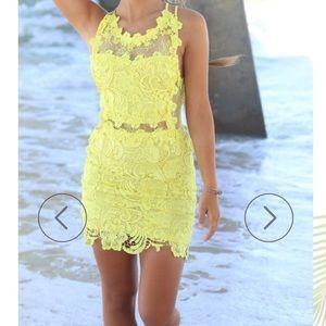 amazing lace Dresses & Skirts - Maya Lemon Floral Dress