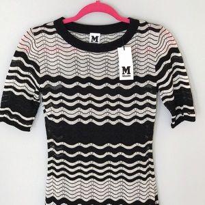 M by Missoni Dresses & Skirts - Missoni knit black and ivory dress NWT