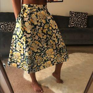H&M Floral Print Skirt