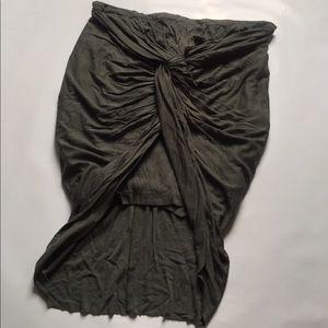 Antik Batik Dresses & Skirts - ANTIK BATIK gray front knot skirt NWOT
