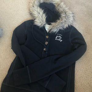 Gilly Hicks S fur hood hoodie