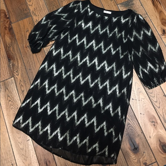 Everly Dresses - Chevron Shift Dress