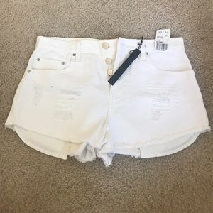 White high waisted shorts 28