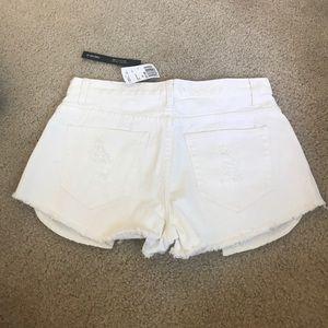 Forever 21 Shorts - White high waisted shorts 28