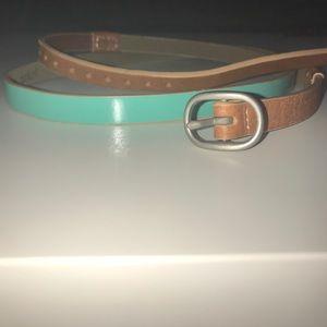 J. Crew Colorblock Patent Skinny Belt