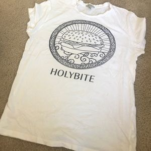 Zara Holy Bite white shirt S