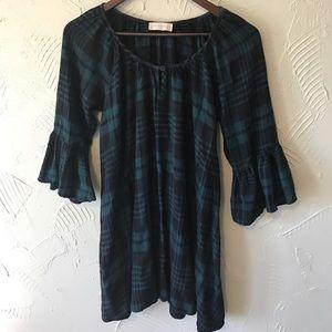 Altar'd State Dresses & Skirts - Altar'd State Flannel Bell Sleeve Dress