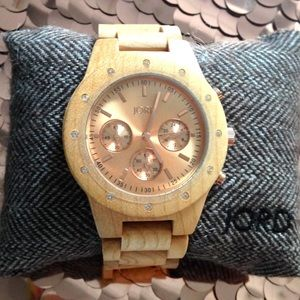 JORD Accessories - jord wood sidney watch in maple / rose gold