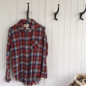 Current Elliott fringed flannel