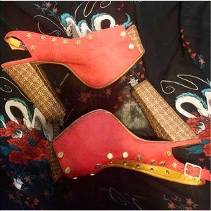 Shoe Republic LA Shoes - Red Platform heel