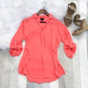 Mossimo Supply Co. Tops - •Coral Pink Long Sleeve Blouse•