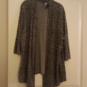 Torrid cheetah open front cardigan
