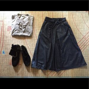 Vintage denim wrap skirt Medium