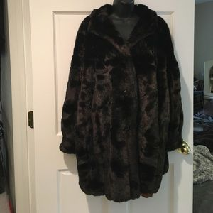 Jackets & Blazers - One size fits all brown fur coat