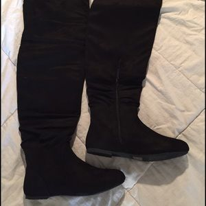 Shoes - Da Viccio faux suede over the knee boots.