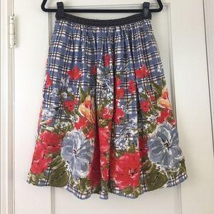 odille Dresses & Skirts - Anthropologie Odille linen floral print full skirt
