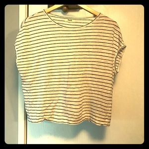 Madewell Striped Crop Tee