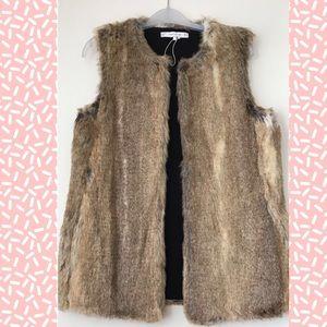 Zara Faux Fur Vest