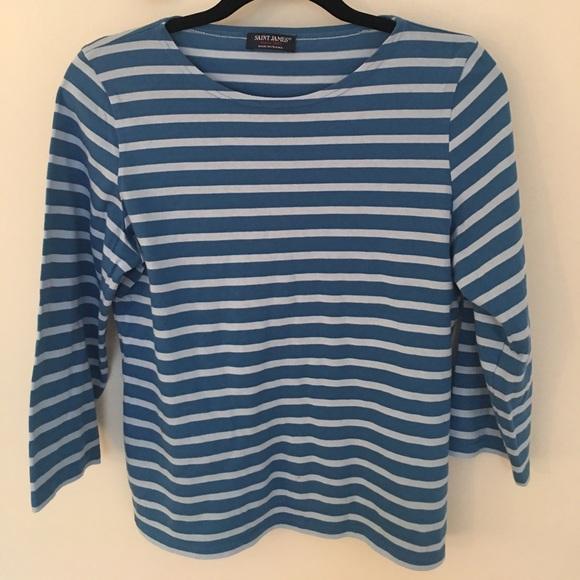 45 off saint james tops nwot saint james blue striped for St james striped shirt