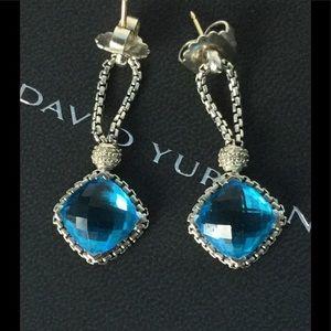 David Yurman Jewelry - 💕David Yurman Cushion On Point Blue Topaz Earring