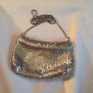 Handbags - Adorable clutch size silver sequins/ metal purse