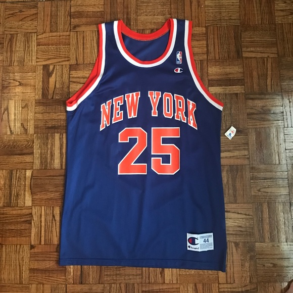 1cc87016b Doc Rivers Knicks Vintage Champion Jersey Sz 44