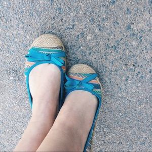 American Eagle by Payless Shoes - Blue Patterned Flats