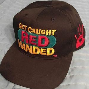 """Vintage Other - Vintage Coca-Cola """"Red Handed"""" strapback hat"""