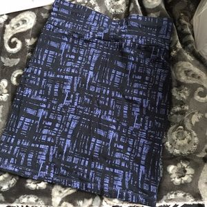 Forever 21 Skirts - Stretchy purple & black pencil skirt
