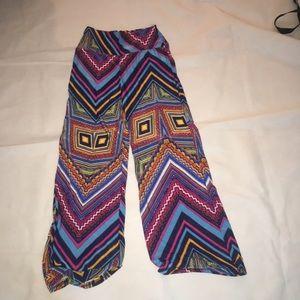 Pants - Fun flowy festival design pants