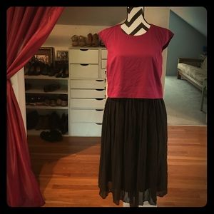Cap sleeved, pleated skirt, flapper dress