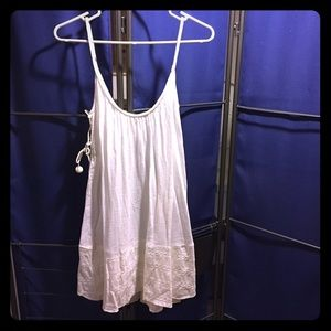 Linen babydoll coverup