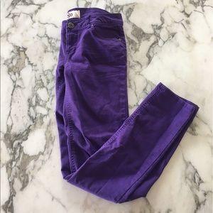 SO Denim - Purple Skinny Jeans