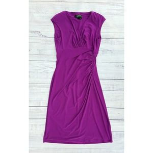 Lauren Ralph Lauren ruched purple dress