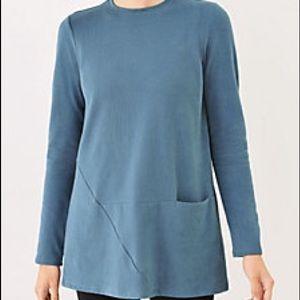 J. Jill Tops - J. Jill Soft-touch Cotton Seamed Tunic Blue Large