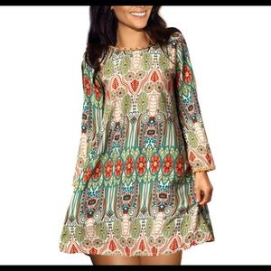 Amy Fashion Dresses & Skirts - Boho chic floral mini/tunic read listing for size