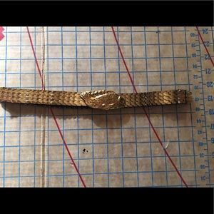Accessories - Vintage gold fish scale stretch belt